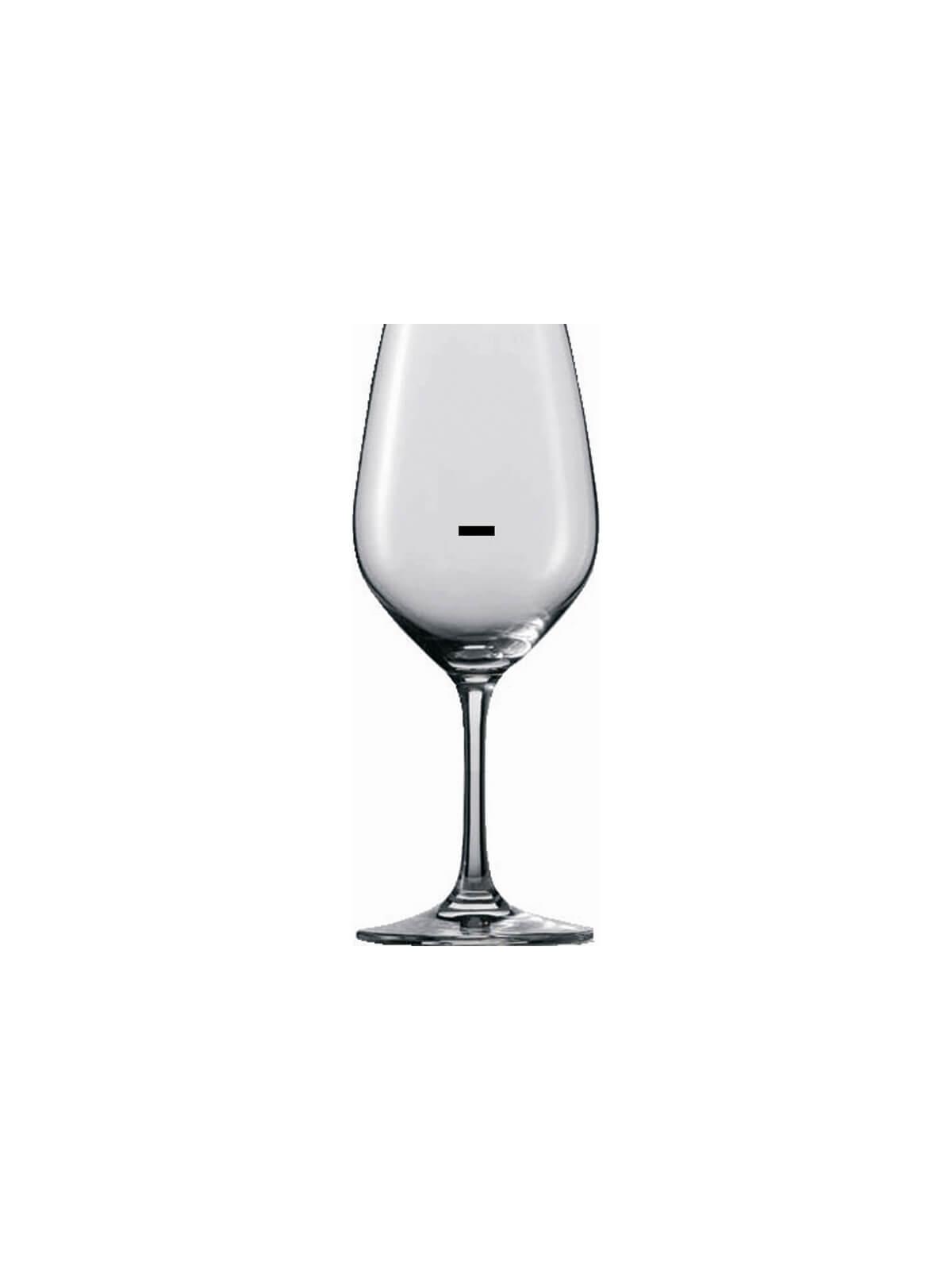 Verre à vin marqué