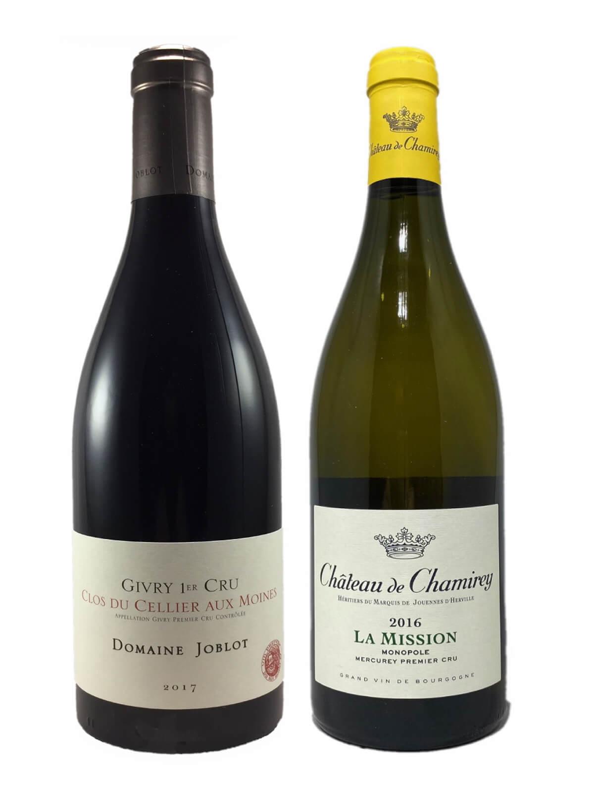 Coffret Amateur 2 bouteilles de Bourgogne 1 Rouge et 1 Blanc)