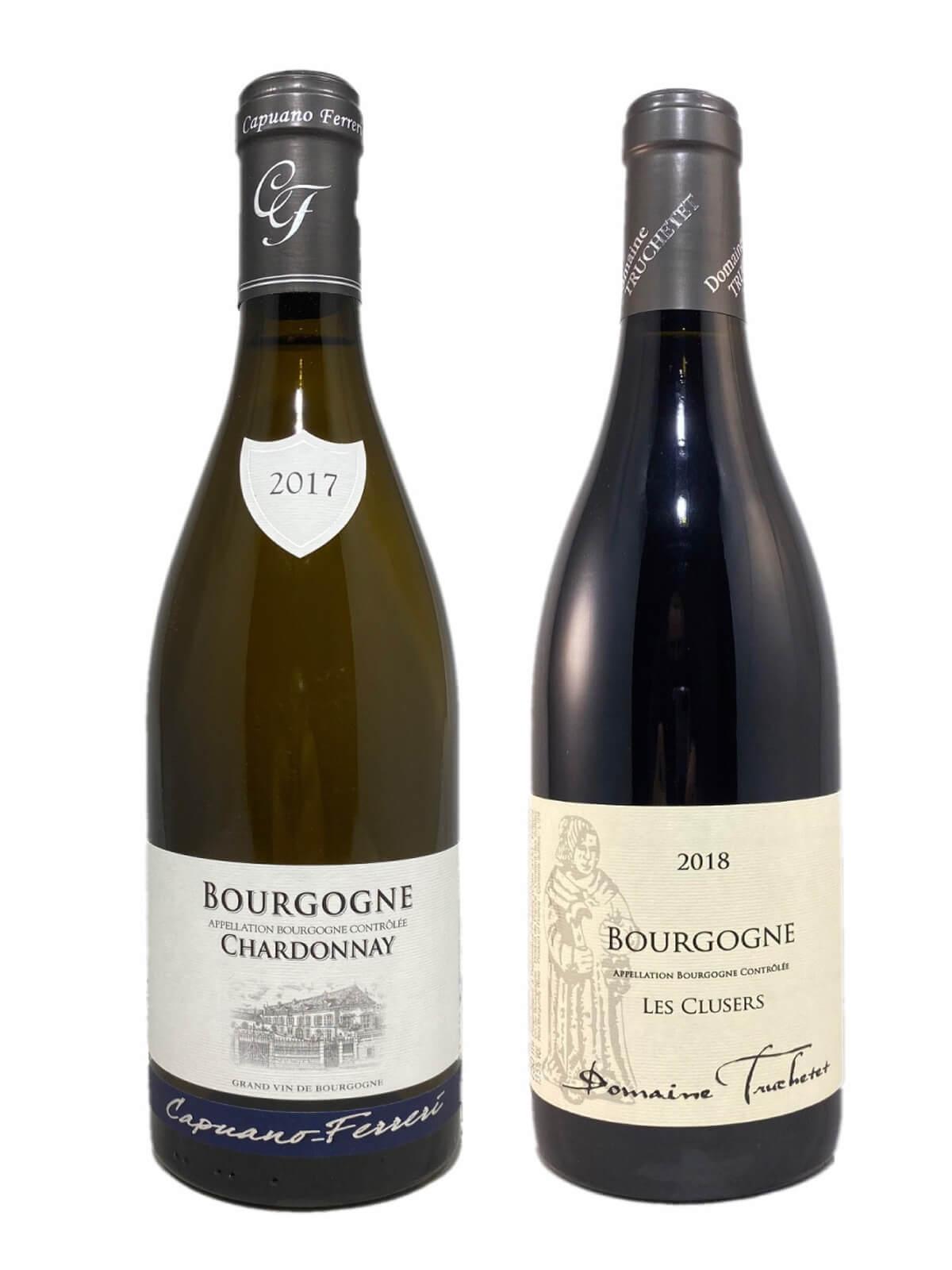 Coffret Découverte 2 bouteilles de Bourgogne : un Rouge et un Blanc