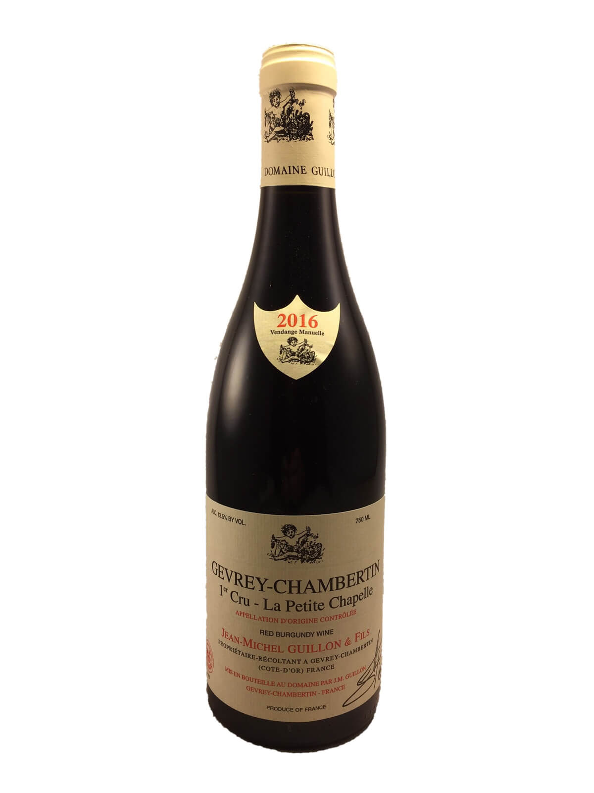 GEVREY CHAMBERTIN 1er cru La Petite Chapelle 2016 Domaine Jean Michel GUILLON