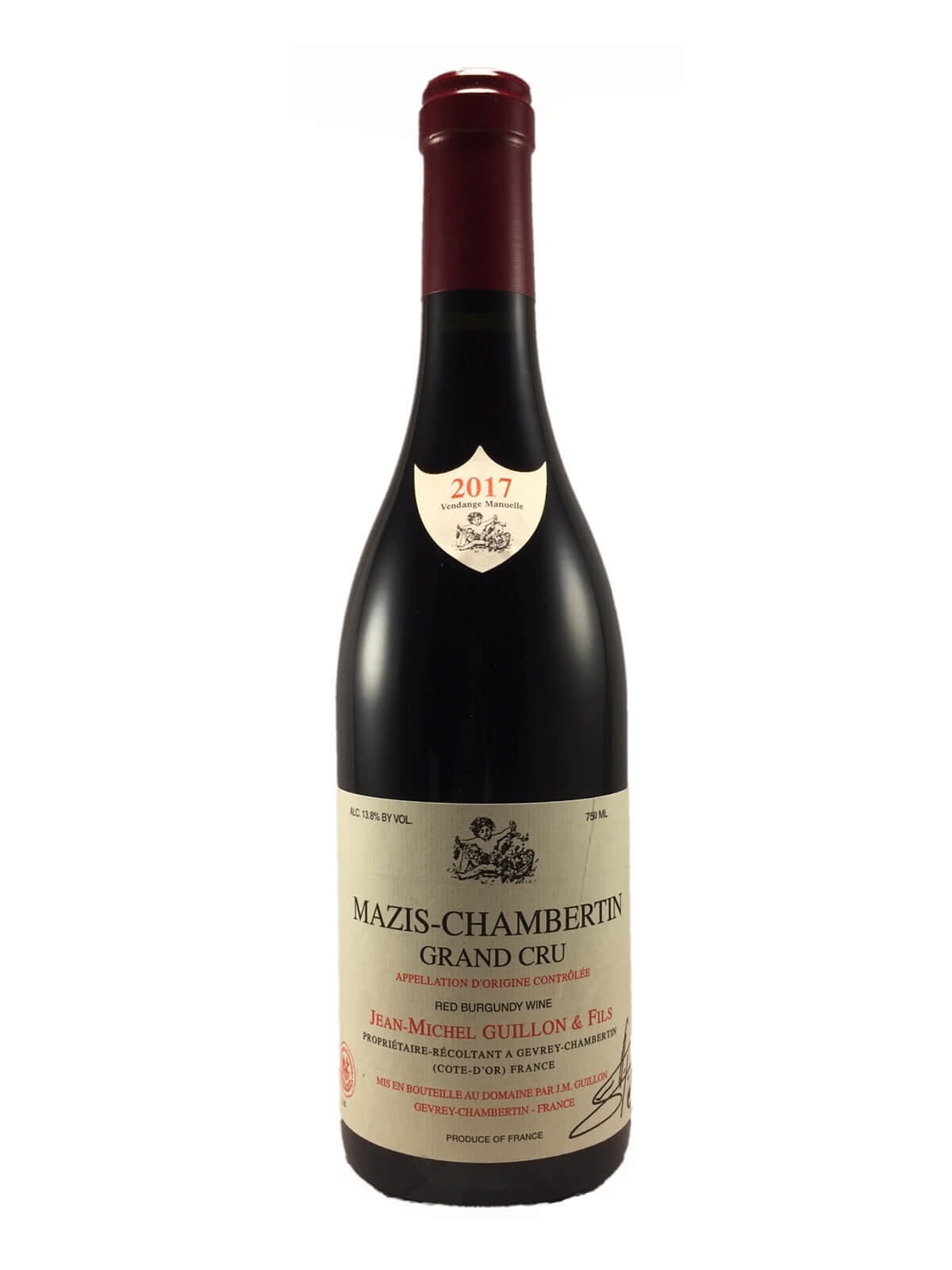 MAZIS-CHAMBERTIN Grand Cru 2017 Domaine Jean Michel GUILLON