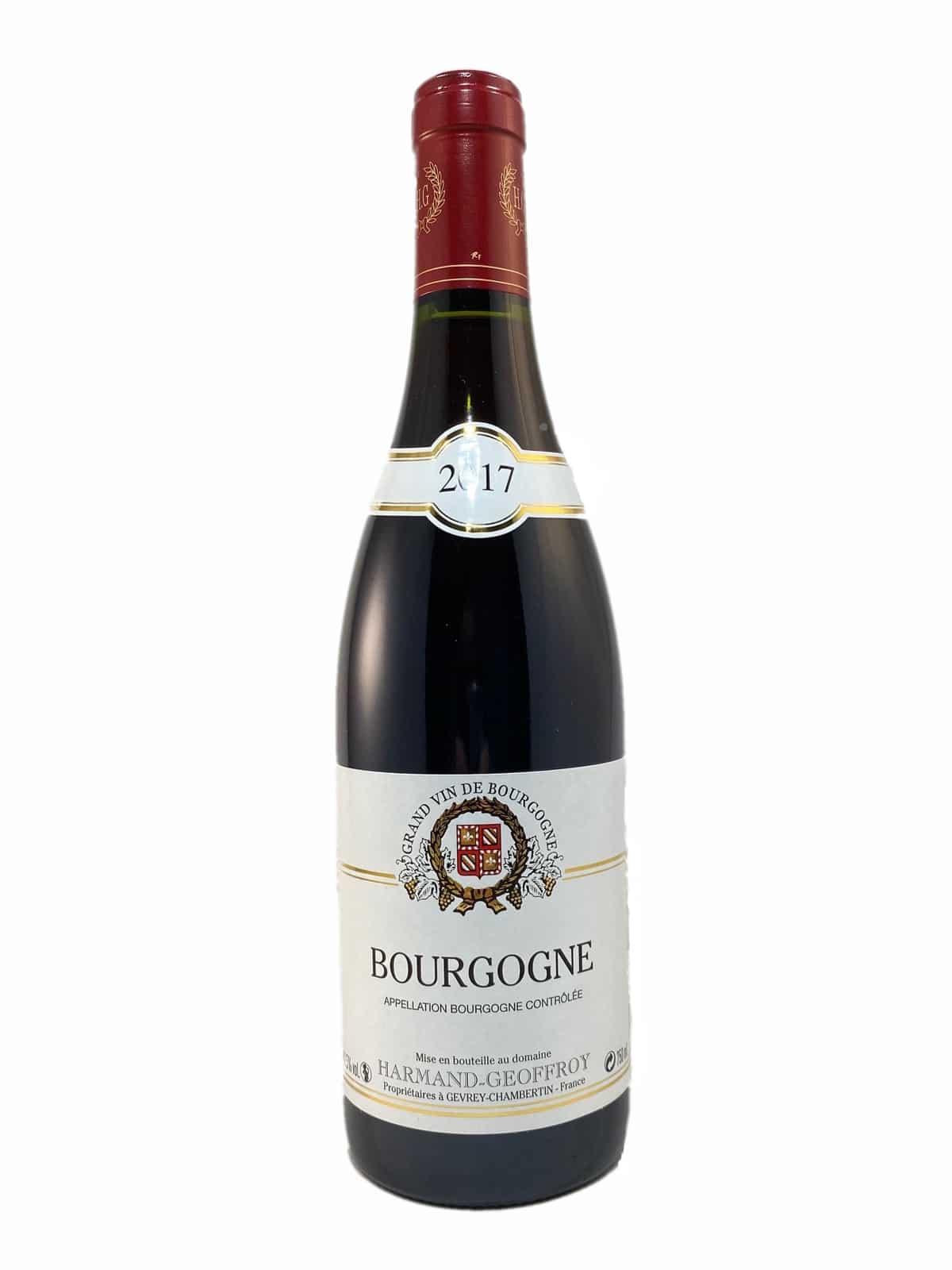 bourgogne 2017 domaine harmand geoffroy grand vin de bourgogne rouge pas cher